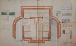 Lavatory souterrain, place Fontainas, Bruxelles, plan du sous-sol, AVB/TP 6 (1907)