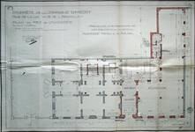 Cie d'assurance Vie Utrecht, Rue de la Loi 13-15, Bruxelles, projet de transformation en collaboration avec Michel Polak, plan du rez-de-chaussée, AVB/TP 33739 (1936)