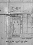 Etam, Rue des Fripiers 1, Bruxelles, projet de transformation, détail de la vitrine rue des Fripiers, AVB TP 34 854 (1929)