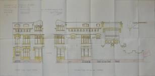 Hôtel Sigart, Avenue Louise 413, Bruxelles Extension Est, élévations des façades, AVB/TP 1865 (1911)