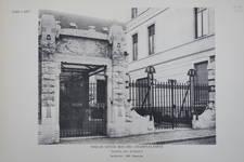 Rue des Champs Elysées 6A, Ixelles, entrée des bureaux, <i>Vers l'Art</i>, octobre 1908, n°10, pl. 58