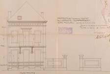 Rue Vergote 28, Woluwe-Saint-Lambert, élévation originelle de la façade principale, ACS/Urb. 273-12 (1908)