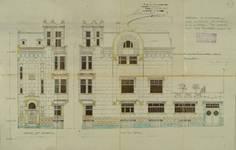 Avenue Jef Lambeaux 25, Saint-Gilles, élévation de la façade principale, ACSG/Urb. 204 (1909)