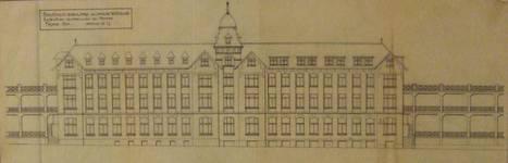 Sanatorium populaire de Waterloo - La Hulpe, Chemin du Sanatorium, La Hulpe, élévation de la façade principale  (© Fondation CIVA Stichting/AAM, Brussels /Paul Hamesse)