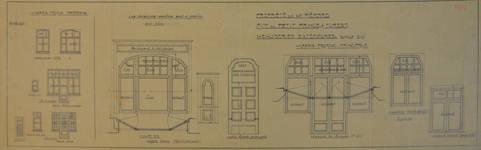 Avenue Victor Rousseau 47, Forest, plan des menuiseries extérieures (© Fondation CIVA Stichting/AAM, Brussels/ Paul Hamesse)