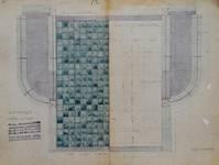 Lavatory souterrain, place Fontainas, Bruxelles, plan, AVB/TP 6 (1907)