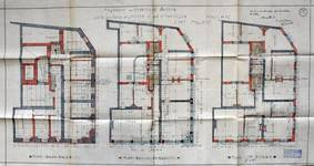 Rue de Laeken 55-57, Bruxelles, plan des niveaux, AVB/TP 44 (1910)