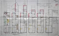 Papiers peints Debruyne-Vleck, Rue Saint-Jean 41, Bruxelles, plan des niveaux, AVB/TP 35910 (1928)