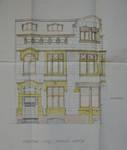 Hôtel Sigart, Avenue Louise 413, Bruxelles Extension Est, élévation de la façade avenue Louise, AVB/TP 1865 (1911)