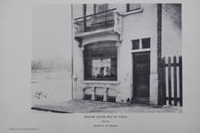 Rue des Mélèzes 76, Ixelles, détail de l'élévation principale (© Vers l'Art, n°8, 1907, p. 117)