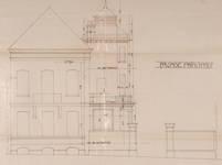Rue Vergote 28, Woluwe-Saint-Lambert, élévation modifiée de la façade principale, ACS/Urb. 273-12 (1908)