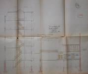 Albert Ameke, Place Fontainas 9-15, Bruxelles, coupe et vue des écuries et remises, AVB/TP 943 (1904)