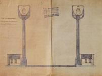 Lavatory souterrain, place Fontainas, Bruxelles, avant-projet, vue extérieure, AVB/TP 6 (1907)