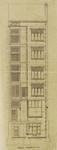 Hôtel Leefson, Rue de l'Ecuyer 47, Bruxelles, élévation de la façade arrière  (© Fondation CIVA Stichting/AAM, Brussels /Paul Hamesse)