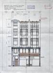 Rue du Lombard 5-9, Bruxelles, élévation de la façade avant, AVB/TP 3969 (1908)