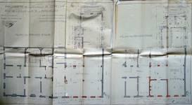Cie d'assurance Vie Utrecht, Rue de la Loi 13-15, Bruxelles, projet de transformation en collaboration avec Michel Polak, plans des premier et second étage, AVB/TP 33739 (1936)