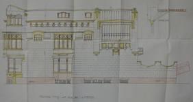 Hôtel Sigart, Avenue Louise 413, Bruxelles Extension Est, élévation de la façade rue de l'Abbaye, AVB/TP 1865 (1911)