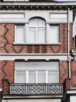 Ets Van der Elst, Charles Demeerstraat 1-3 | Dieudonné Lefèvrestraat 75, Brussel Laken, detail van de opstand Dieudonné Lefèvrestraat (© APEB, foto 2017)