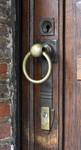 Avenue des Ormeaux 6-10, Uccle, poignée de la porte d'entrée (© APEB, photo 2017)