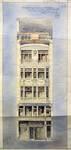 Hôtel Leefson, Rue de l'Ecuyer 47, Bruxelles, élévation de la façade avant  (© Fondation CIVA Stichting/AAM, Brussels /Paul Hamesse)